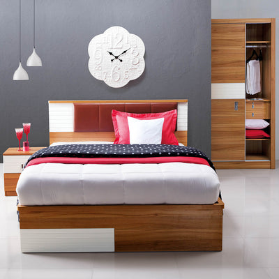 Valentino King Bed With Storage (Maple)