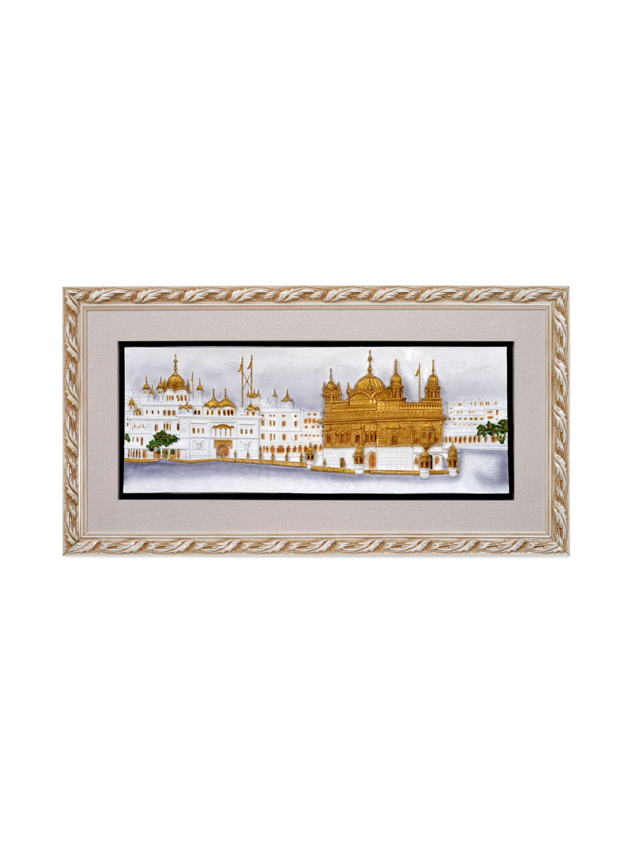 Golden Temple Wall Decor  (Multicolor)