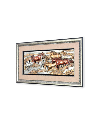 Running Horses Wall Decor (Multicolor)