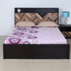 Yuko Queen Bed With Box Storage (Wenge & Brown)