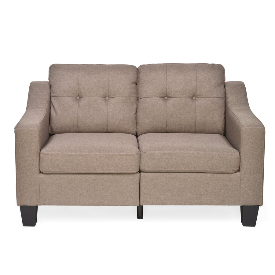 Zella 2 Seater Sofa (Dark Beige)