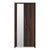 Zerlin 2 Door Wardrobe with Left Hand Side Mirror (Brown)