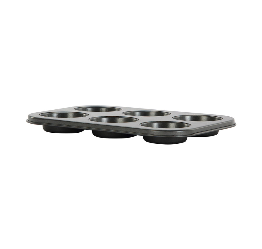6 Cups Bakeware Muffin Tray (Black)