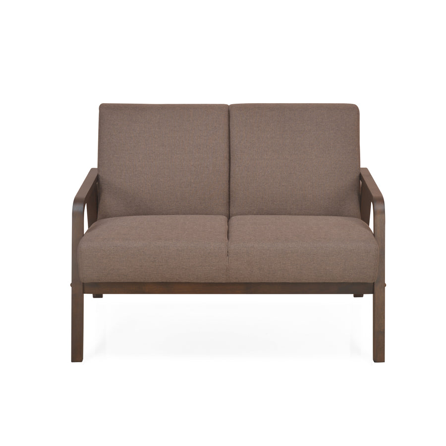 Andrea Two Seater Sofa (Dark Brown)