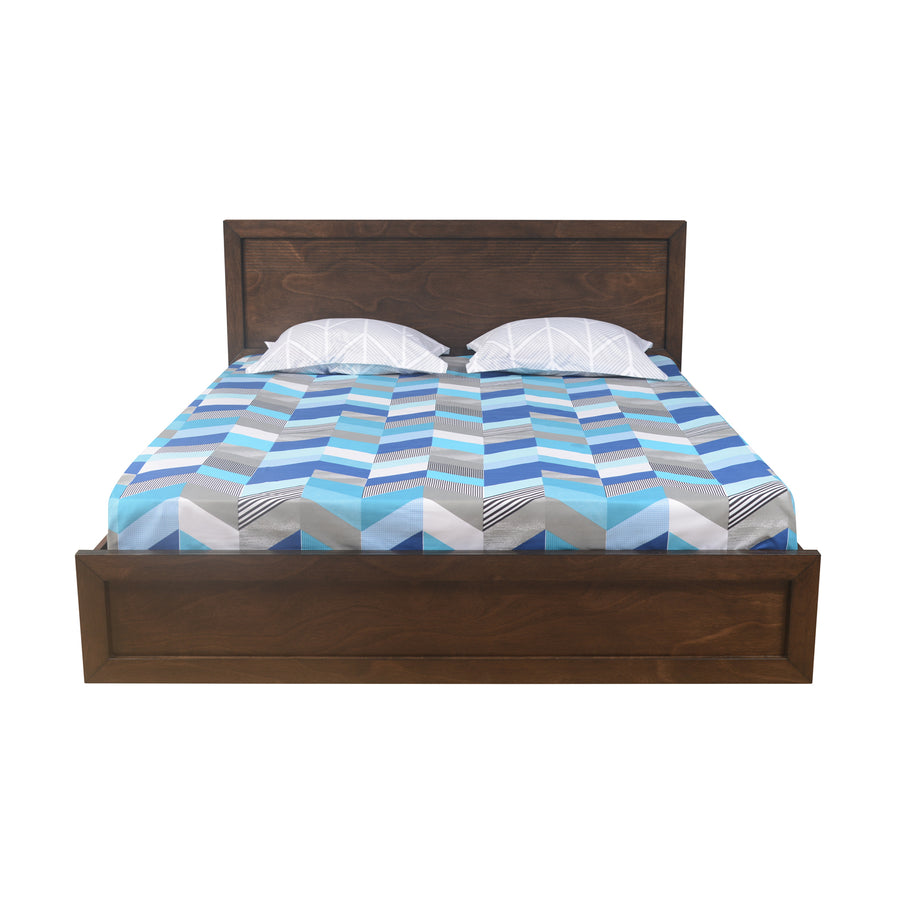Avatar Queen Bed With Storage (Light Oak)
