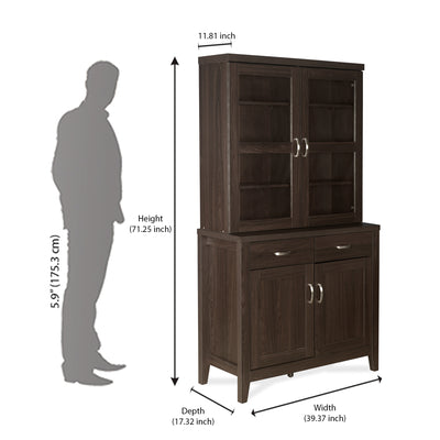 Ben Hutch Storage Cabinet (Brown)