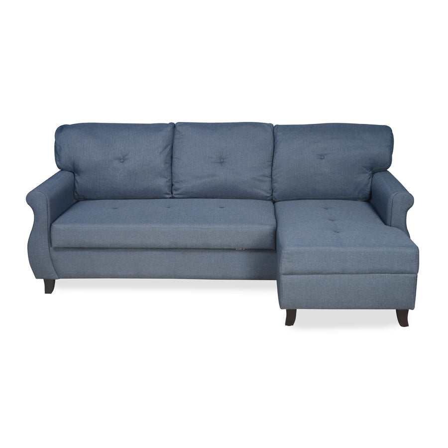 Benin Sofa cum Bed (Dark Blue)