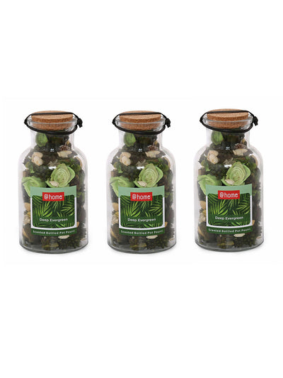 Azure Aura Bottle Potpourrie 3 Pieces (Sea Green)