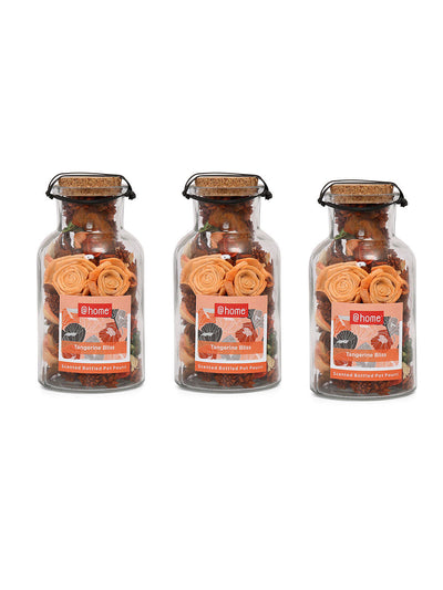 Flower Delight Bottle Potpourrie 3 Pieces (Orange)