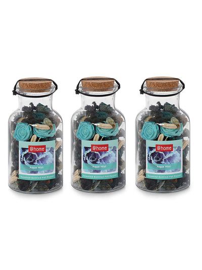 Wilds Flower Bottle Potpourrie 3 Pieces (Emerald)