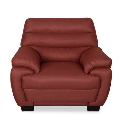Bradley One Seater Sofa (Maroon)
