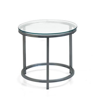 Britz Side Table Round (Clear)