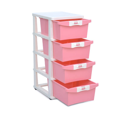 Nilkamal 24 Chest Of Drawers (Pink)