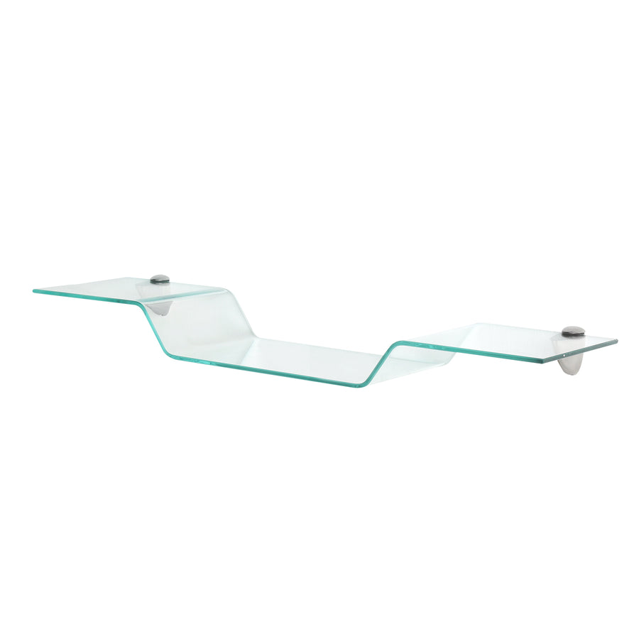 Clarity Glass Wall Shelf (Clear)