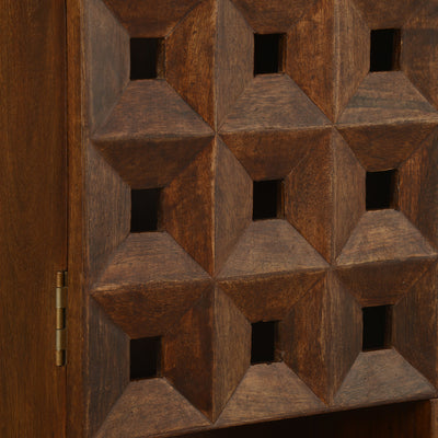 Colton Vertical Wall Cabinet (Walnut)