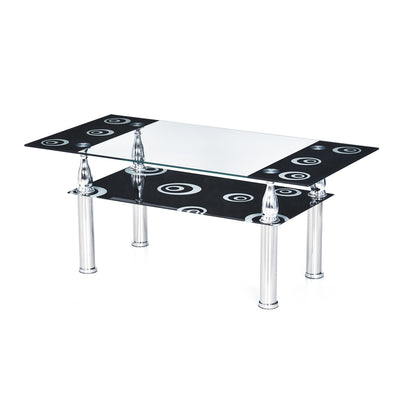 Corolla Center Table (Black)