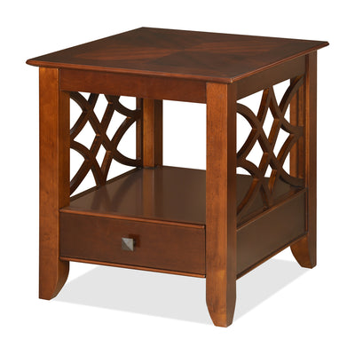 Crest Side Table (Walnut)