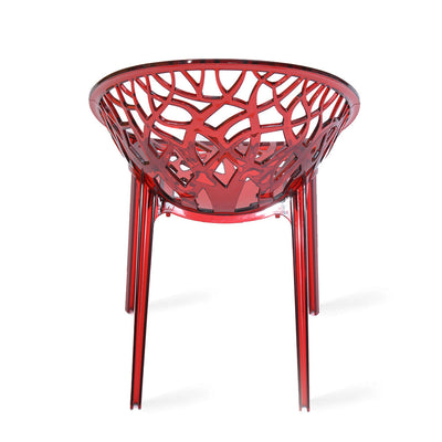 Nilkamal Crystal Polycarbonate Chair (Red)