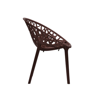 Nilkamal PP Crystal Chair (Brown)