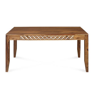 Dalia Six Seater Dining Table (Natural Walnut)