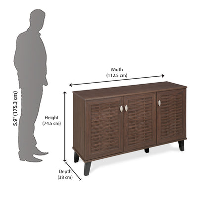 Dane Big Shoe Cabinet  (Walnut)