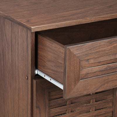 Dane Medium Shoe Cabinet  (Walnut)