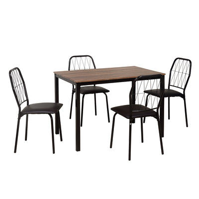 Danish Four Seater Dining Set  (Chocolate)