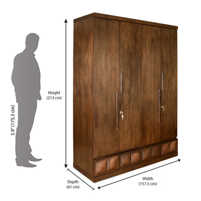 David Four Door Wardrobe (Walnut)