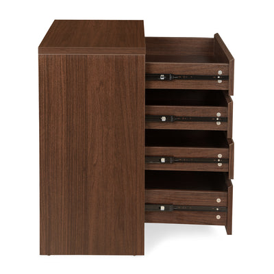 Dean 4 Chest of Drawers (Dark Walnut)