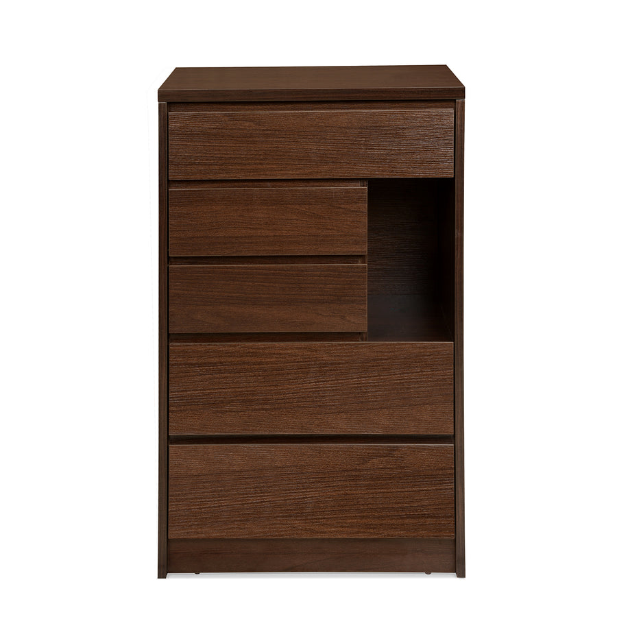 Dean 5 Chest of Drawers (Dark Walnut)