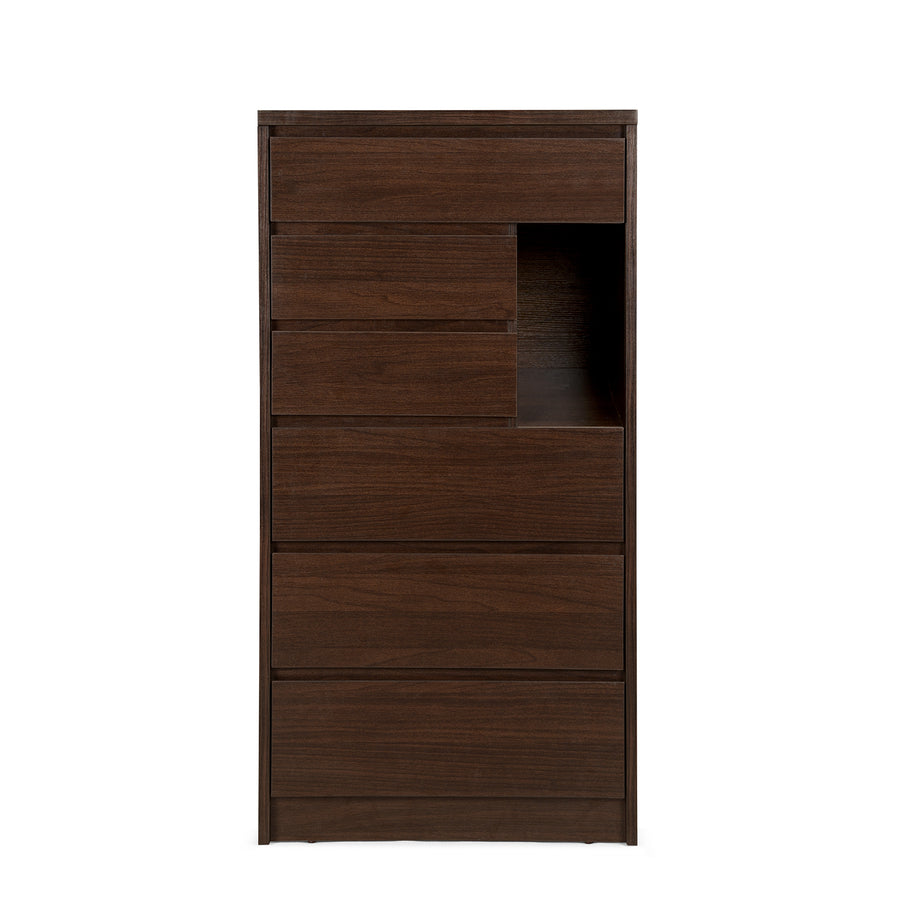 Dean 6 Chest of Drawers (Dark Walnut)
