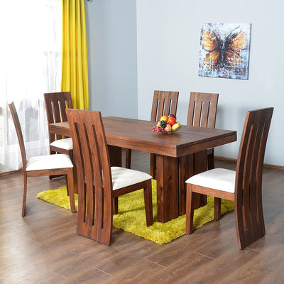 Delmonte Six Seater Dining Set (Walnut)