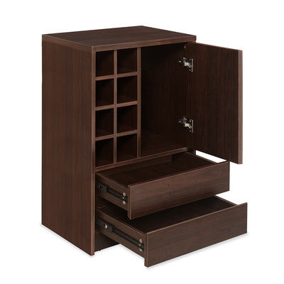 Denver Medium Bar Cabinet (Dark Walnut)