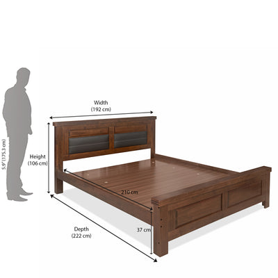 Dexter King Bed Without Storage (Cappucino)