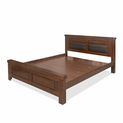 Dexter Queen Bed Without Storage (Cappucino)