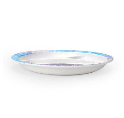Frozen Round 3 Section Dinner Plate (Multicolor)