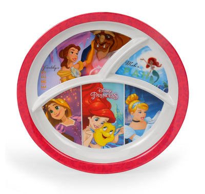 Princess Round 3 Section Dinner Plate (Multicolor)