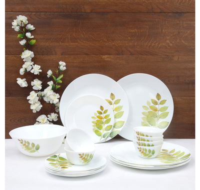 Laopala Diva Autumn Shadow 19 Pieces Dinner Set (Ivory)