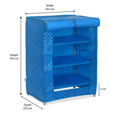 Doremon Kids Shoe Rack (Blue)