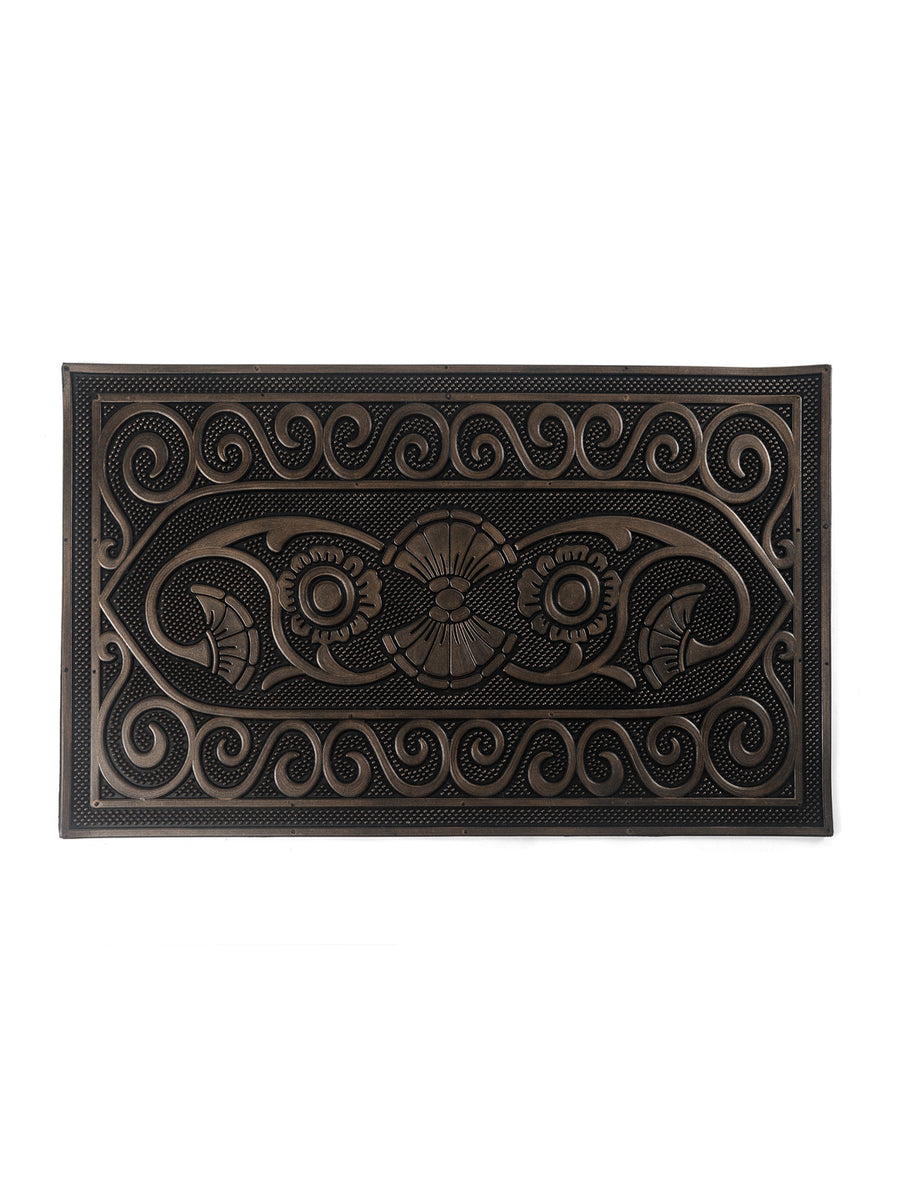 Runner Mettalic finish (45CMX75CM) Door Mats (Brown)