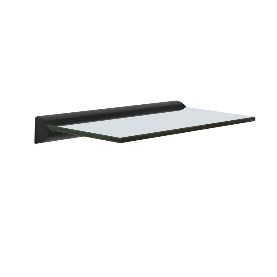 Tasha Clear Glass Wall Shelf (Black )