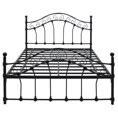 Emma Queen Bed Without Storage (Black)