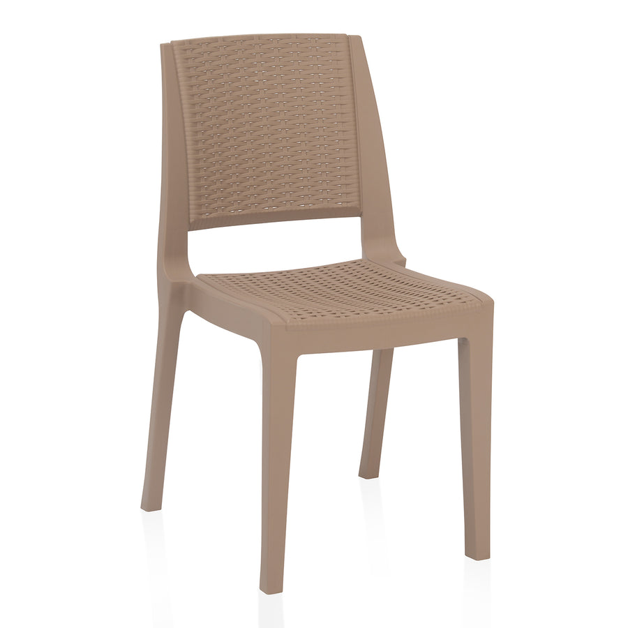 Nilkamal Enamora Chair (Dark Beige)