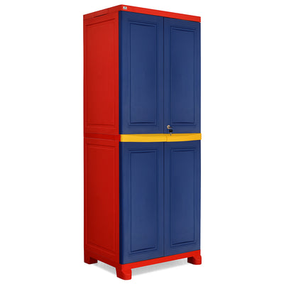 Nilkamal Freedom Cabinet Big Without Mirror (Pepsi Blue, Bright Red, Yellow)