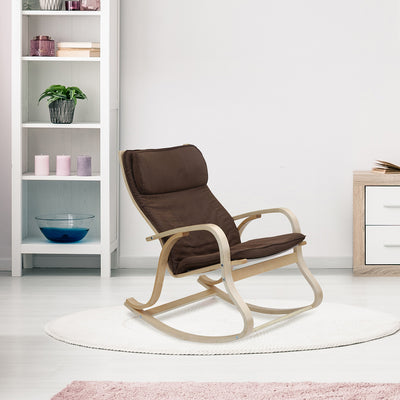 Pronto Rocking Arm Chair (Brown)