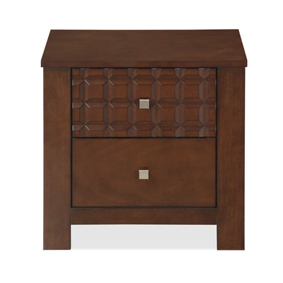 Rivera Queen Bedroom Set (Dark Walnut)