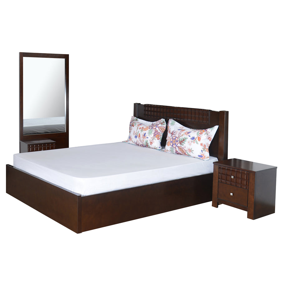 Rivera King Bedroom Set (Dark Walnut)