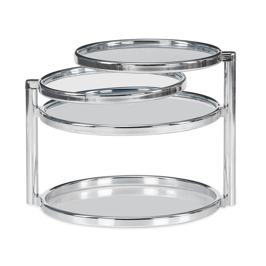 Lorena with 3 Ring Glass Center Table (Clear)