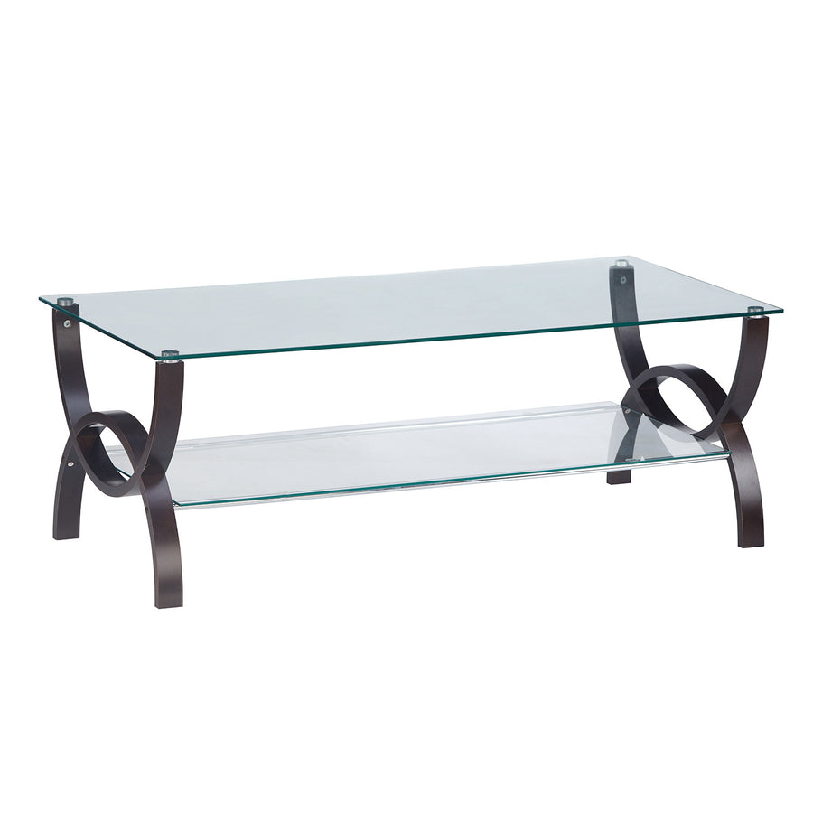 Spring Glass Center Table (Wenge)