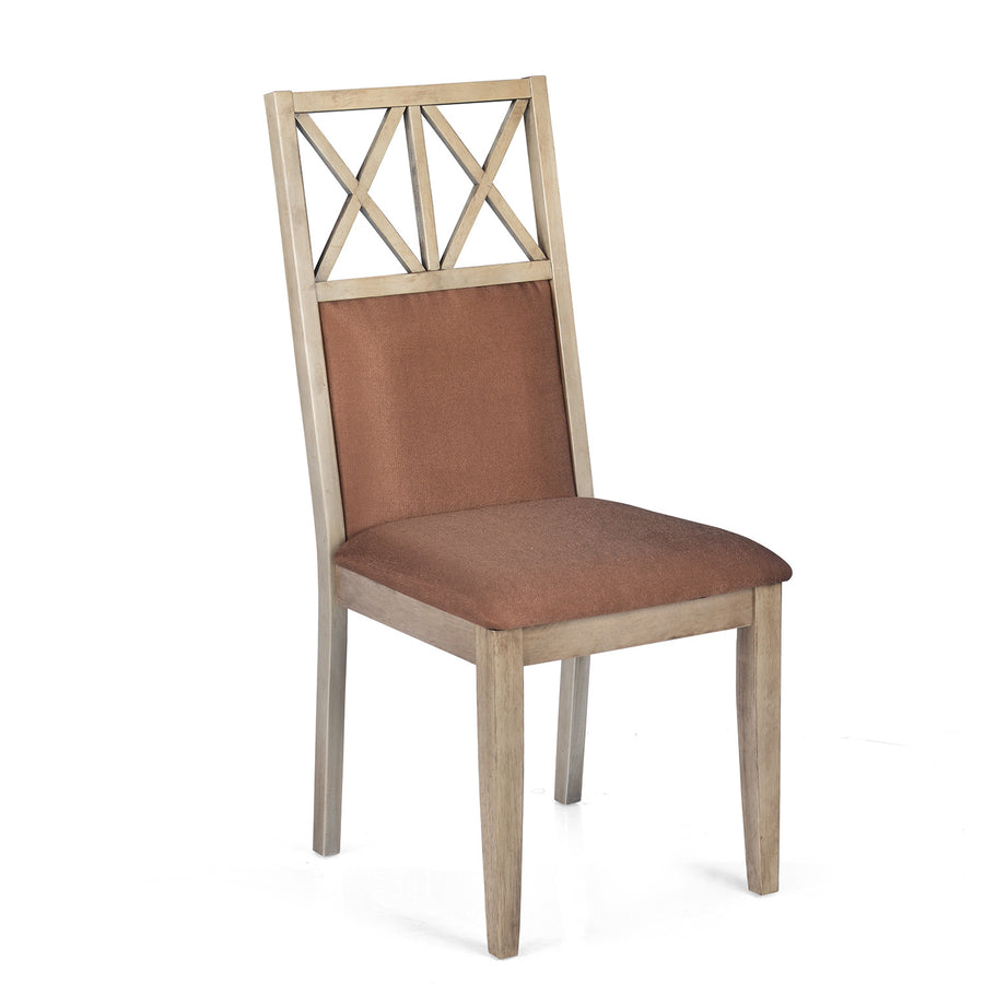 Falcon Dining Chair With Cushion (Pastle Brown)